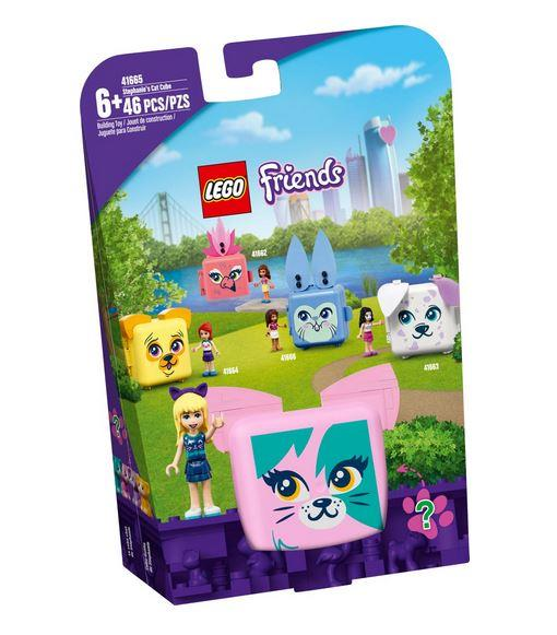 Lego Friends Stephanie's Cat Cube - 41665 - Jouets LOL Toys