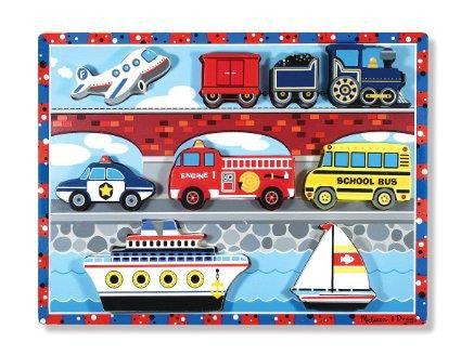 Melissa & Doug Vehicle Wooden Chunky Puzzle