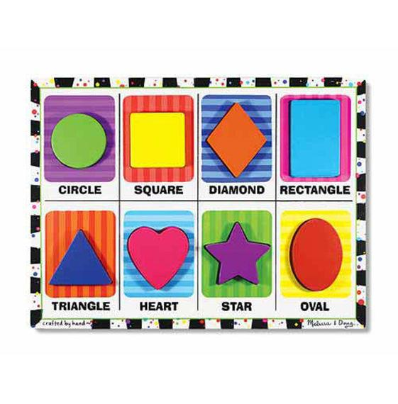 Melissa & Doug Shapes Chunky Puzzle - Jouets LOL Toys