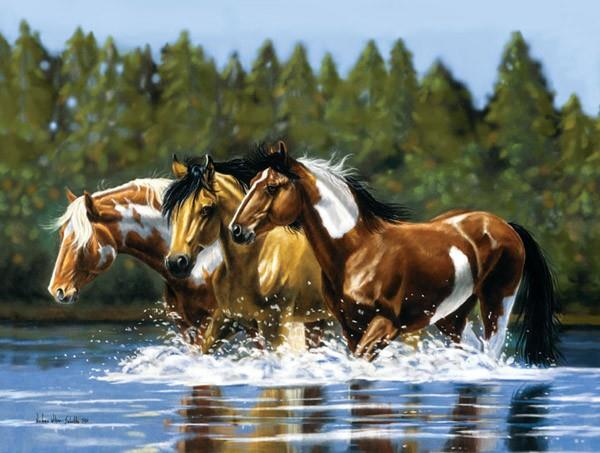Horse Heading Upstream Puzzle - Jouets LOL Toys