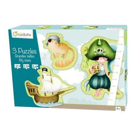 Avenue Mandarine Puzzle Giant Pirate 3-in-1 - Jouets LOL Toys