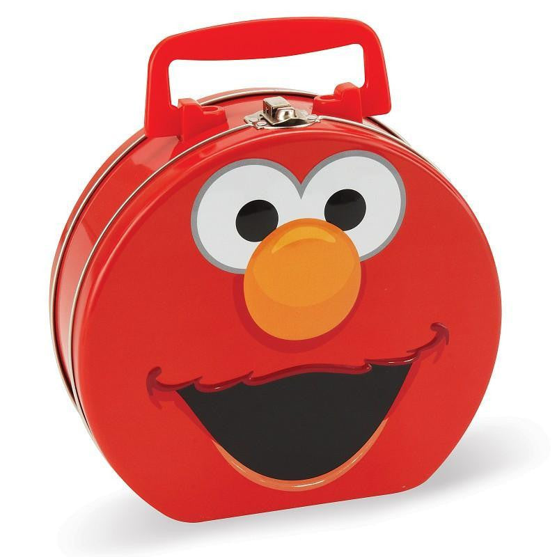 Sesame Street Elmo Face Round Tin Lunch Box - Jouets LOL Toys