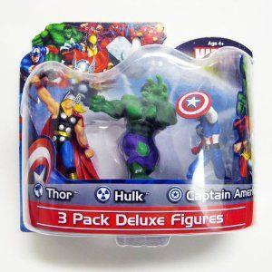 Marvel Deluxe Pack - Thor/Hulk/Captain America - Jouets LOL Toys