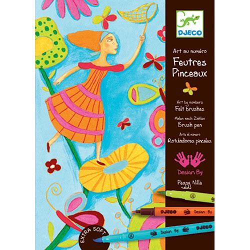 Djeco Felt Brush Printemps Acidule - Jouets LOL Toys
