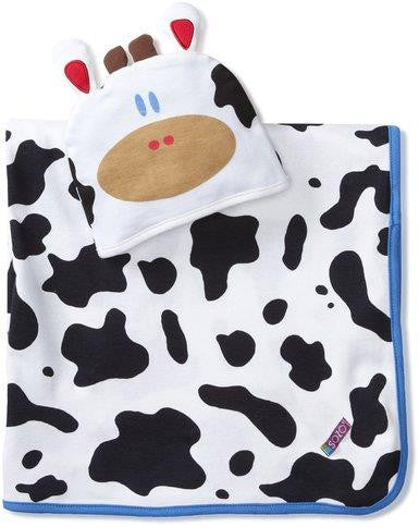 SOZO Mooo Swaddle & Cap Set - Ensemble à Langer & Bonnet Meuh!