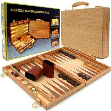 Backgammon Walnut Deluxe Set - Jouets LOL Toys