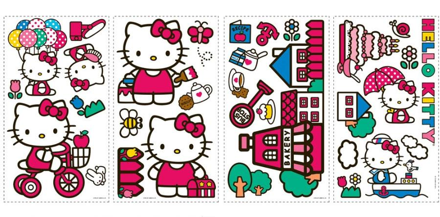 Hello Kitty Wall Stickers - Jouets LOL Toys