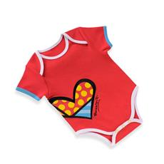 Britto Romper Red Heart (0 - 6 months) - Jouets LOL Toys