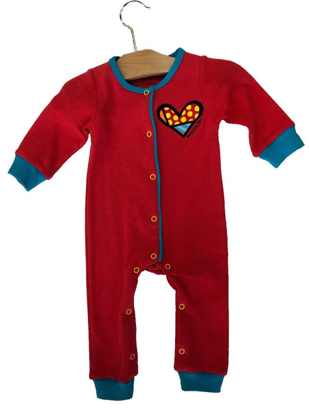 Britto Onesie Red Heart (6 - 12 months) - Jouets LOL Toys