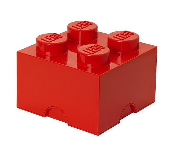 Lego Storage 4 Brick Red - Jouets LOL Toys