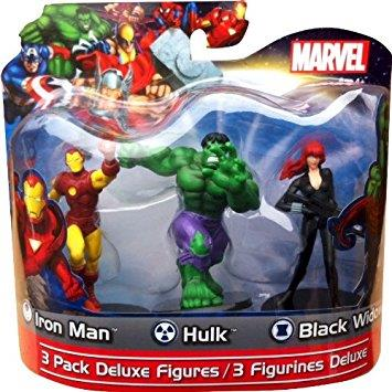Marvel Deluxe Pack - Iron Man/Hulk/Black Widow - Jouets LOL Toys