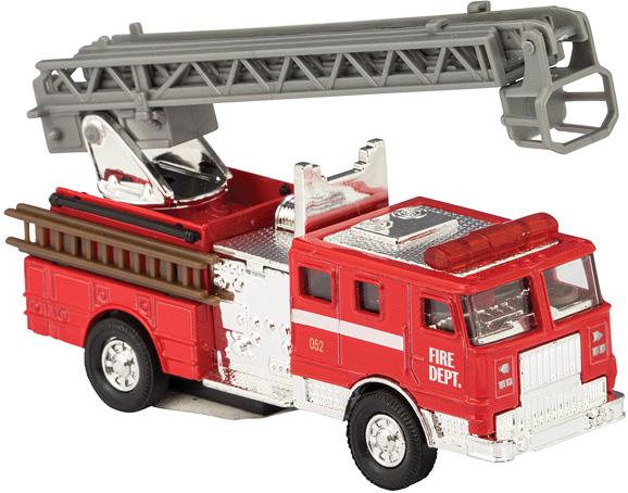 Die Cast Fire Engine Car Pull Back - Jouets LOL Toys