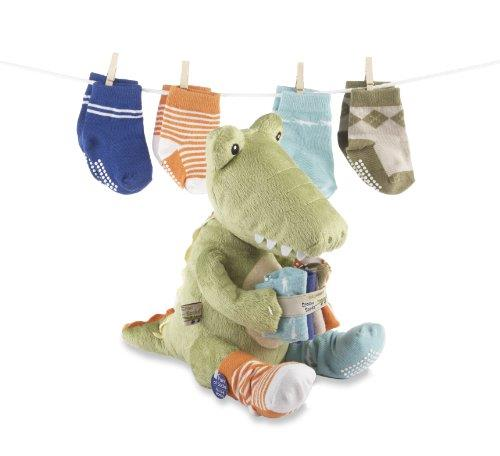 Baby Aspen Croc In Socks Plush Set Green - Jouets LOL Toys