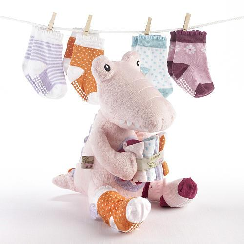 Baby Aspen Croc In Socks Plush Set Pink - Jouets LOL Toys