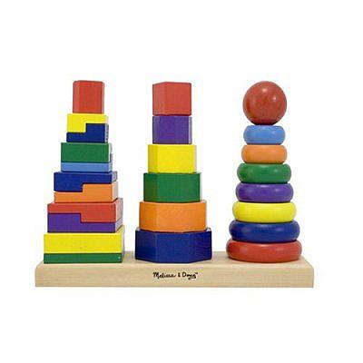 Melissa & Doug Geometric Stacking Shapes - Jouets LOL Toys