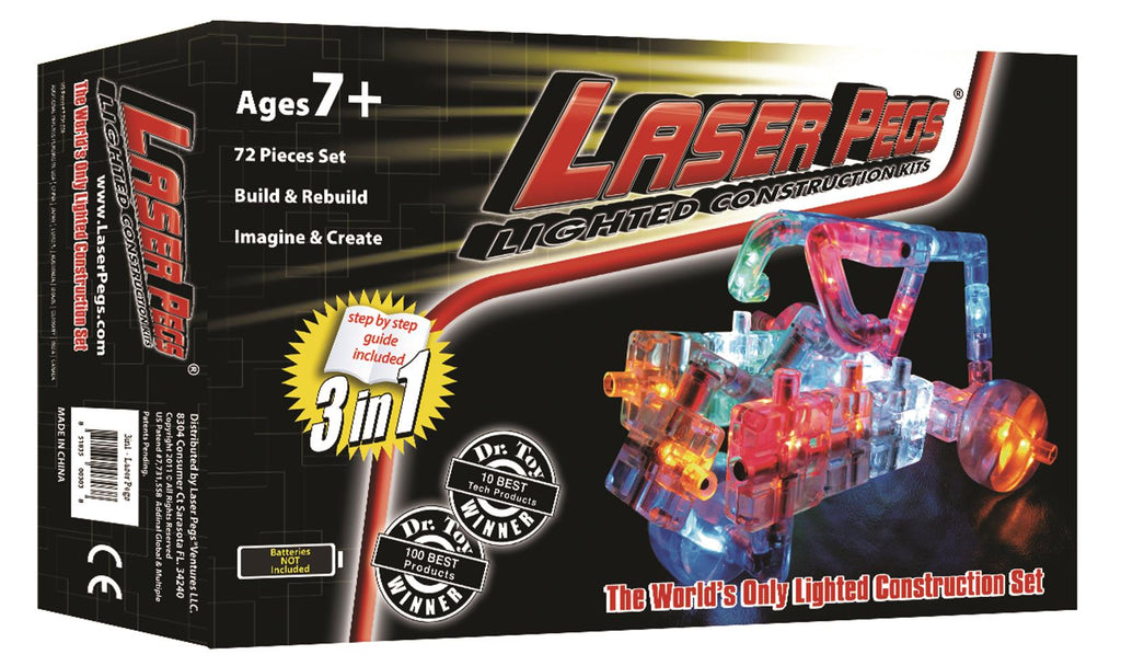 Laser Pegs Lighted Construction Kit 3 in 1