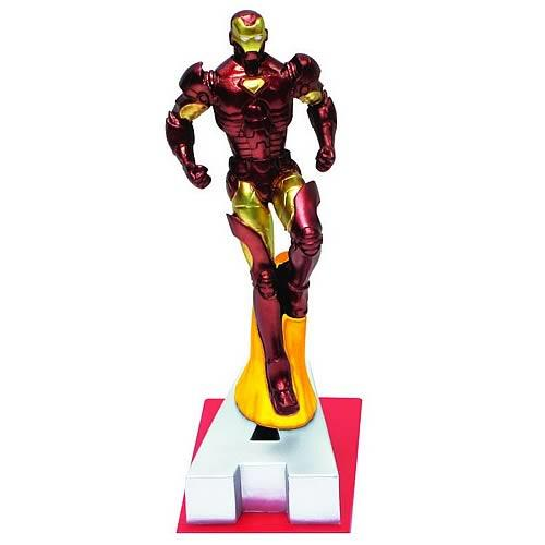 "Marvel Resin Figures - Iron Man on Letter Base ""A"" - Jouets LOL Toys"