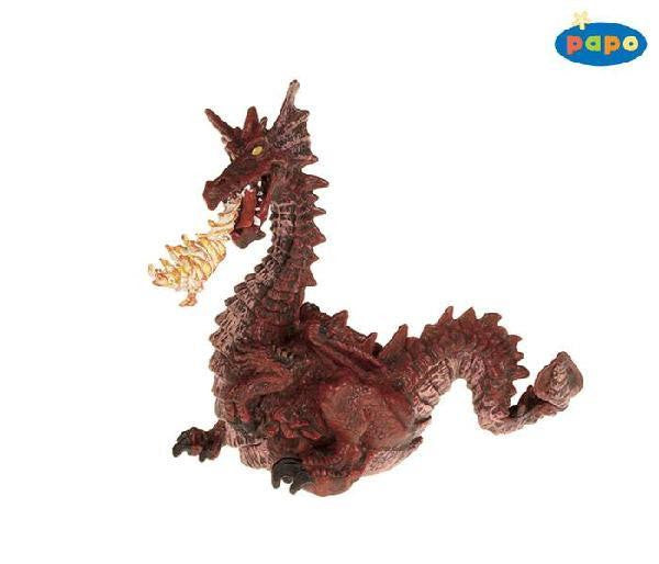 Papo Dragon with Flames (Red) - Jouets LOL Toys