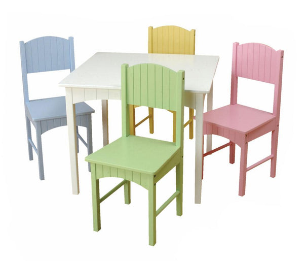 KidKraft Nantucket Table & 4 Pastel Chairs  - Jouets LOL Toys