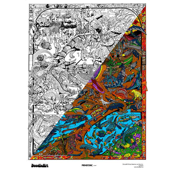 DoodleArt Prehistoric Poster Large - Jouets LOL Toys