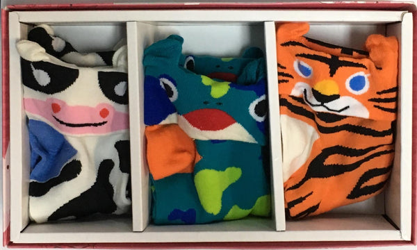 TTY Socks Animal (Cow/Frog/Tiger) - Jouets LOL Toys