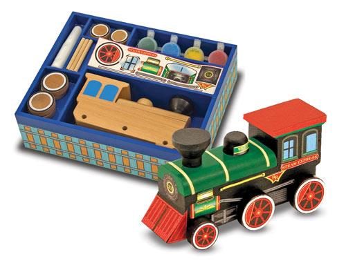 Melissa & Doug Create A Craft Wooden Train - Jouets LOL Toys