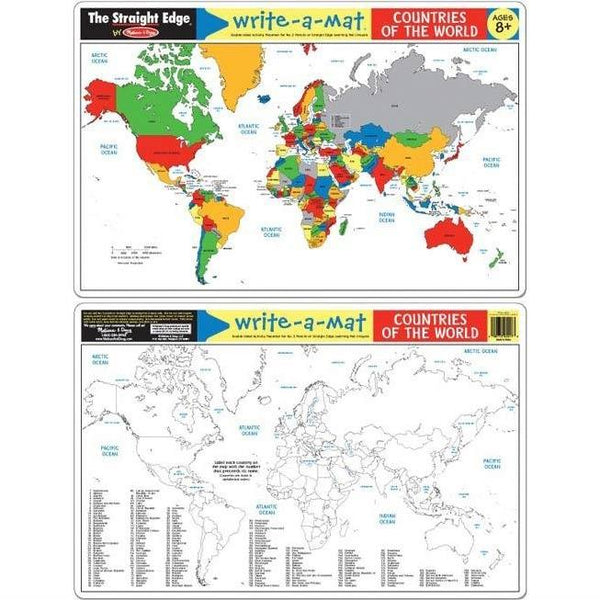 Melissa & Doug Mat Map Countries - Jouets LOL Toys