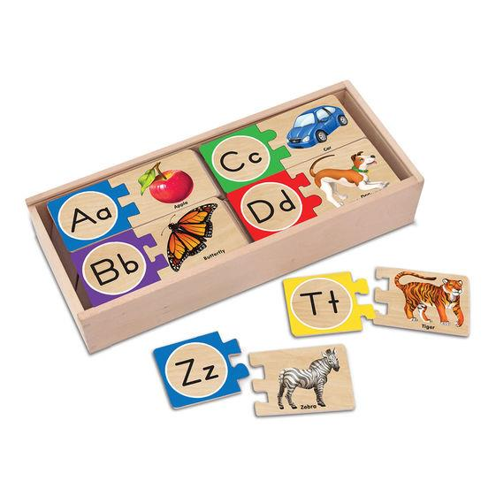 Melissa & Doug Self Correcting Letter Puzzle - Jouets LOL Toys