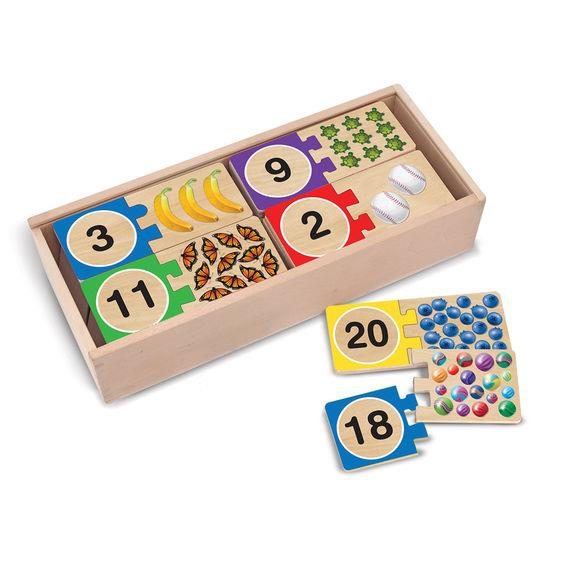 Melissa & Doug Self Correcting Number Puzzle - Jouets LOL Toys