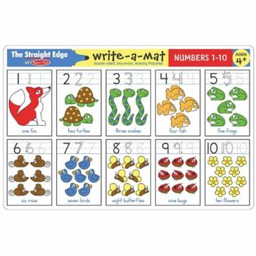Melissa & Doug Write A Mat Numbers - Jouets LOL Toys