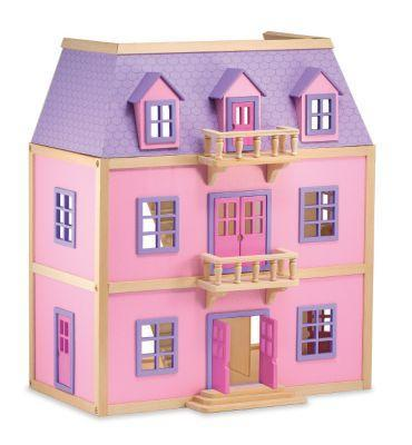 Melissa & Doug Multi Level Doll House Wood - Jouets LOL Toys