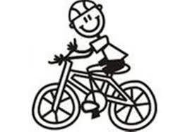 My Family Car Stickers Boy On Bicycle - Jouets LOL Toys