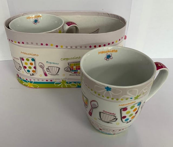 Pierre Belvedere Mug Set Coffee Mix 2 Pcs