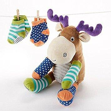 Baby Aspen Moose Plush With Socks - Jouets LOL Toys