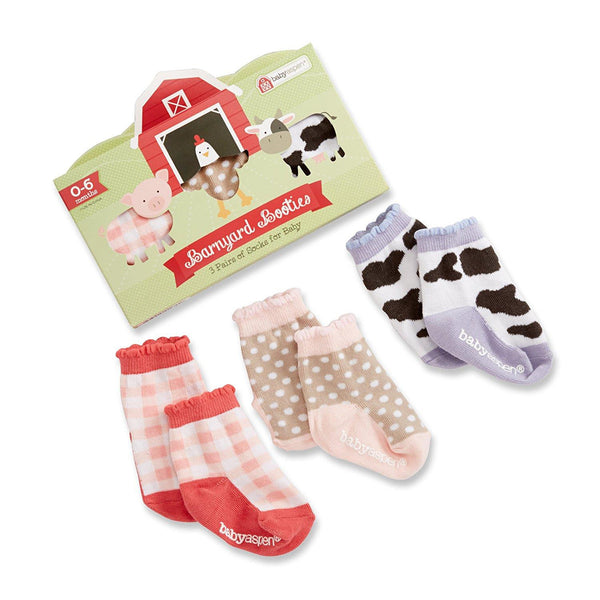 Baby Aspen Barnyard Booties Set of 3 Socks - Jouets LOL Toys
