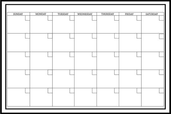 Dry Erase Monthly Calendar - Jouets LOL Toys