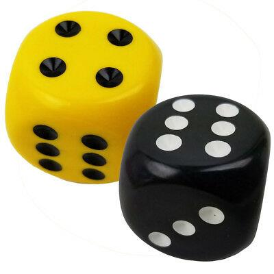 Dice Opaque Black And Yellow - Jouets LOL Toys