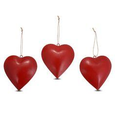 Red Metal Hearts (Small)