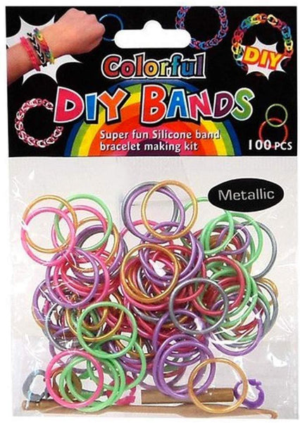 DIY Bands Bracelet 100 PCS Metallic - Jouets LOL Toys