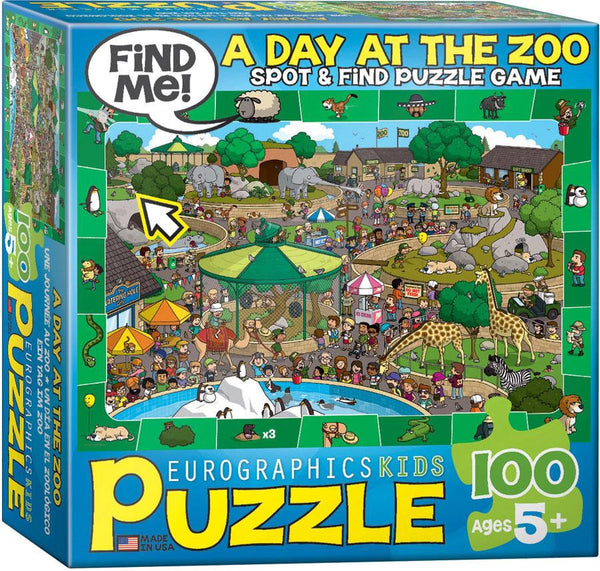 Spot & Find Puzzle A Day in the ZOO - Jouets LOL Toys