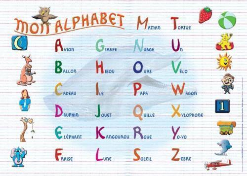 Placemat Mon Alphabet (French) - Jouets LOL Toys