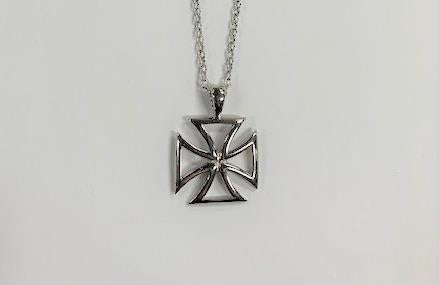 Stainless Steel Byzantine Cross Necklace