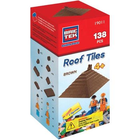 Bric Tek Roof Tiles (Brown) - Jouets LOL Toys