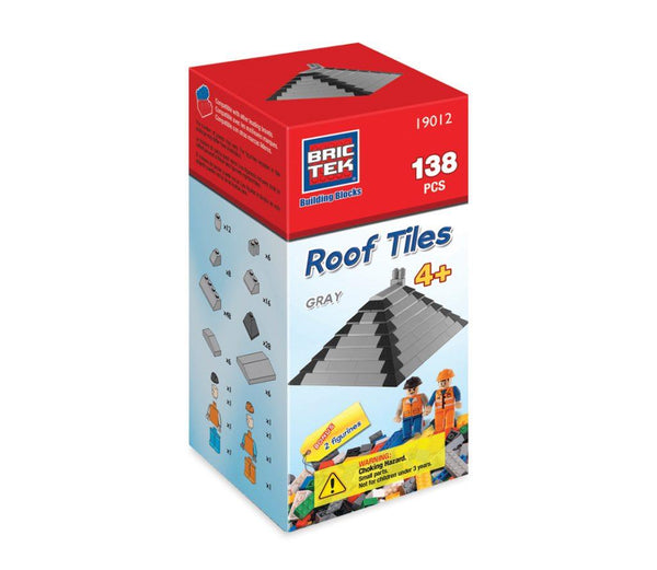 Bric Tek Roof Tiles (Grey) - Jouets LOL Toys