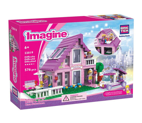 Bric Tek Imagine Suburban House - Jouets LOL Toys