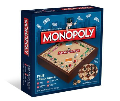 Monopoly + 4 Classic Games - Jouets LOL Toys
