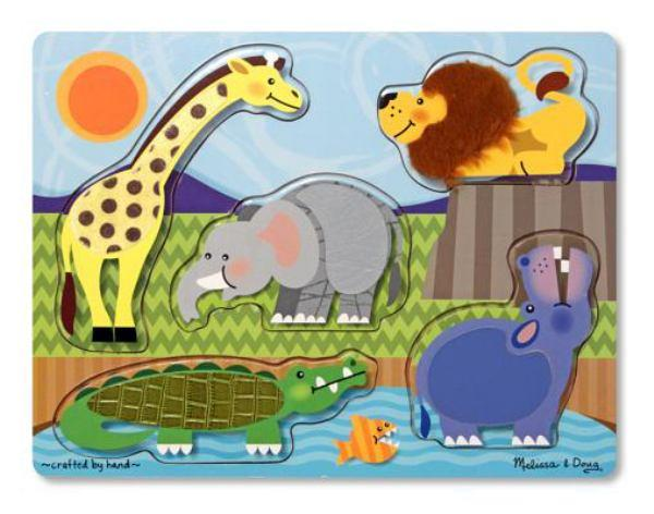 Melissa & Doug Zoo Animals Touch Feel Puzzle - Jouets LOL Toys