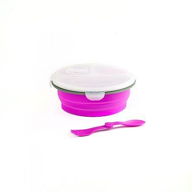 Paderno Collapsible Lunch Box Round Purple - Jouets LOL Toys