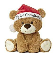 Aurora Plush My First Christmas Bear - Jouets LOL Toys