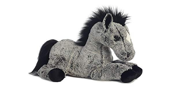 Aurora Plush Horse Duke (Black) - Jouets LOL Toys